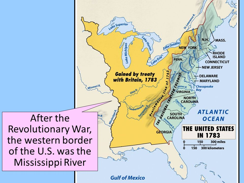 The Period Of Time In US History Before The Civil War Is Known - Map of us after revolutionary war