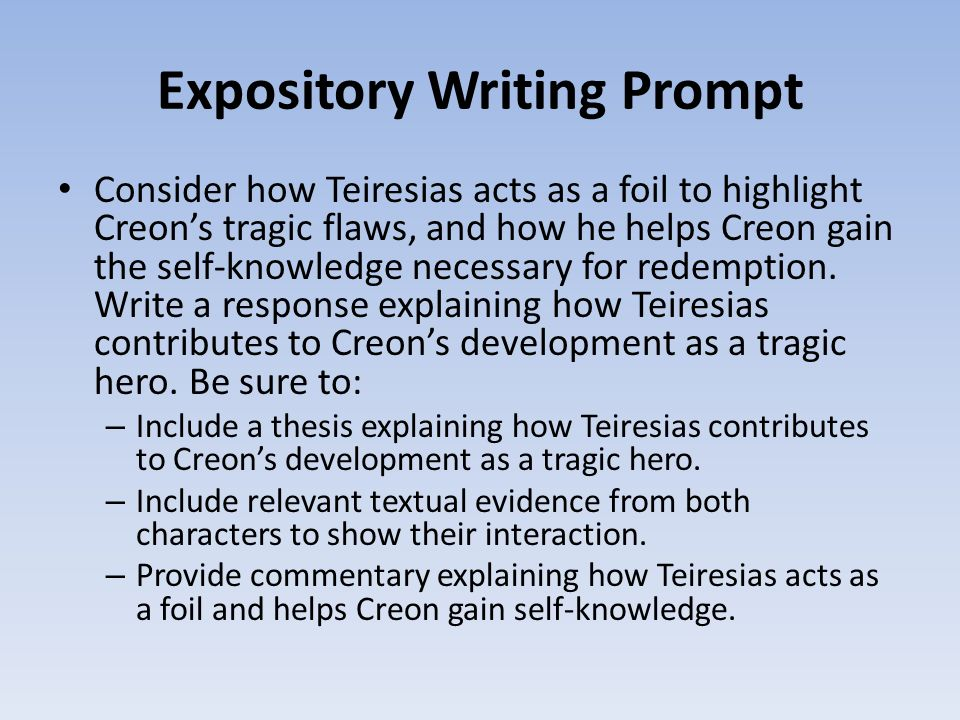 english ii honors ppt video online  5 expository writing prompt
