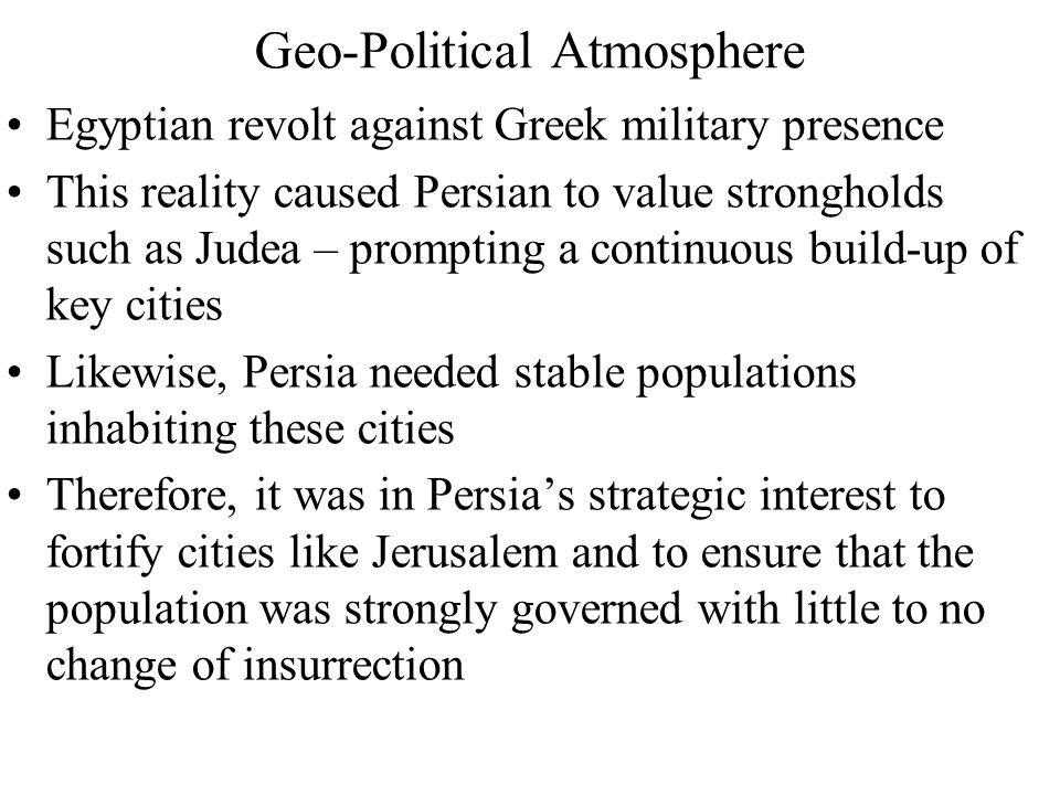 Geo-Political Atmosphere