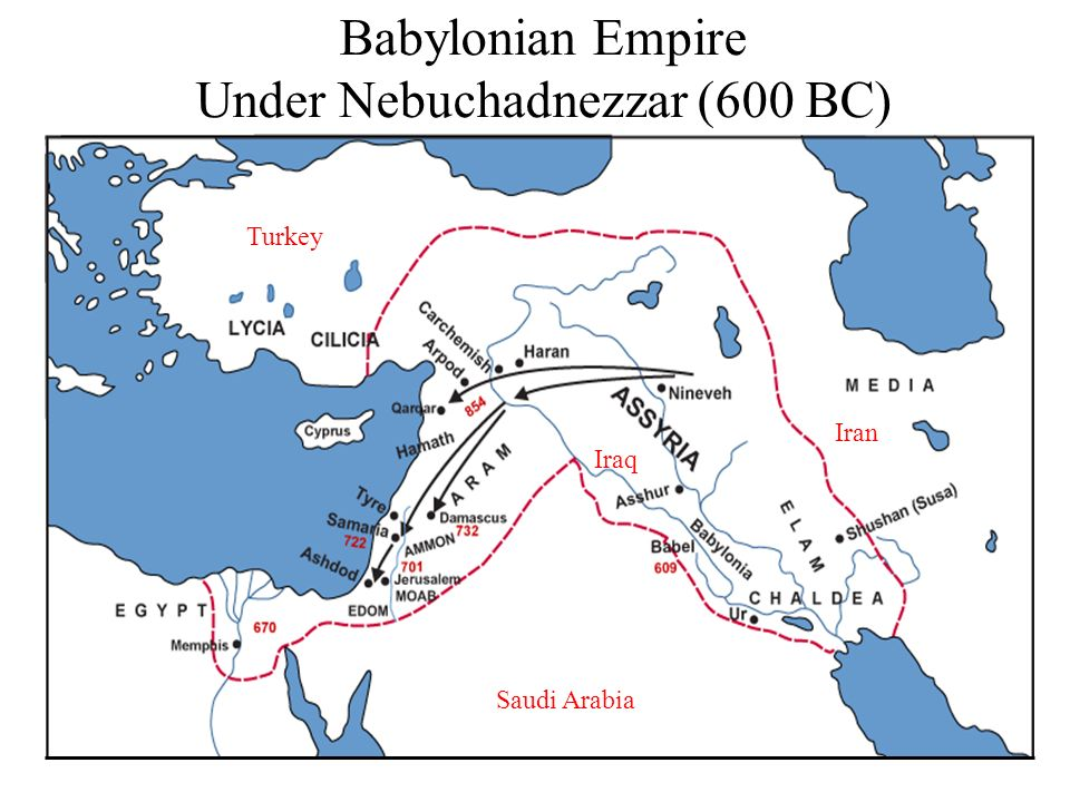 Babylonian Empire Under Nebuchadnezzar (600 BC)