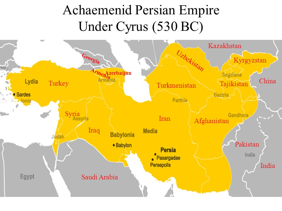Achaemenid Persian Empire Under Cyrus (530 BC)