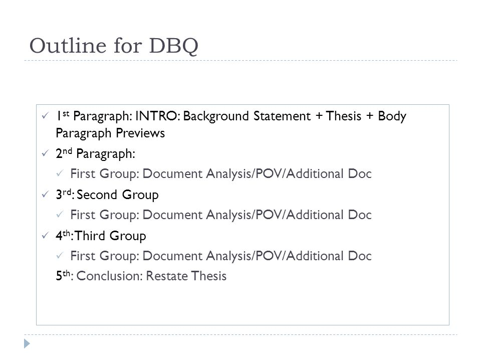How to write a dbq conclusion paragraph