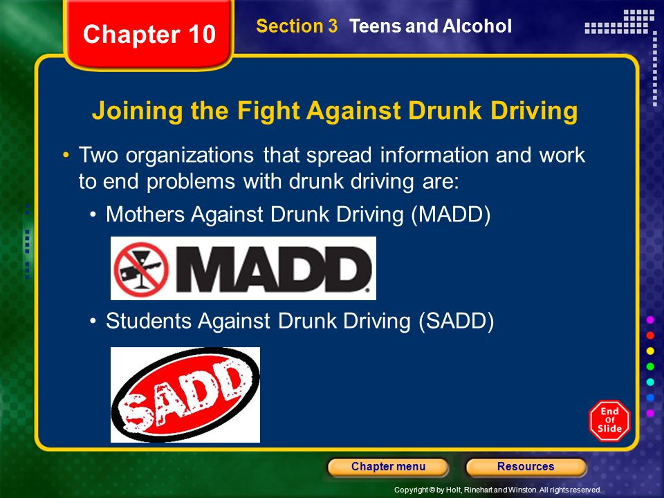 start of anti drinking and driving groups Madd canada in the early 1980's provincial anti-drinking and driving groups started to appear in canada the people who started these groups were victims and survivors who wanted to inform and educate about the tragedies that were caused by drinking and driving.