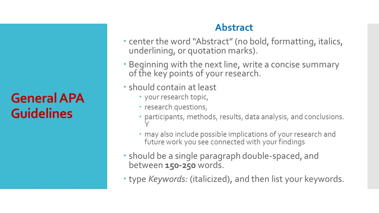 extended essay abstract format