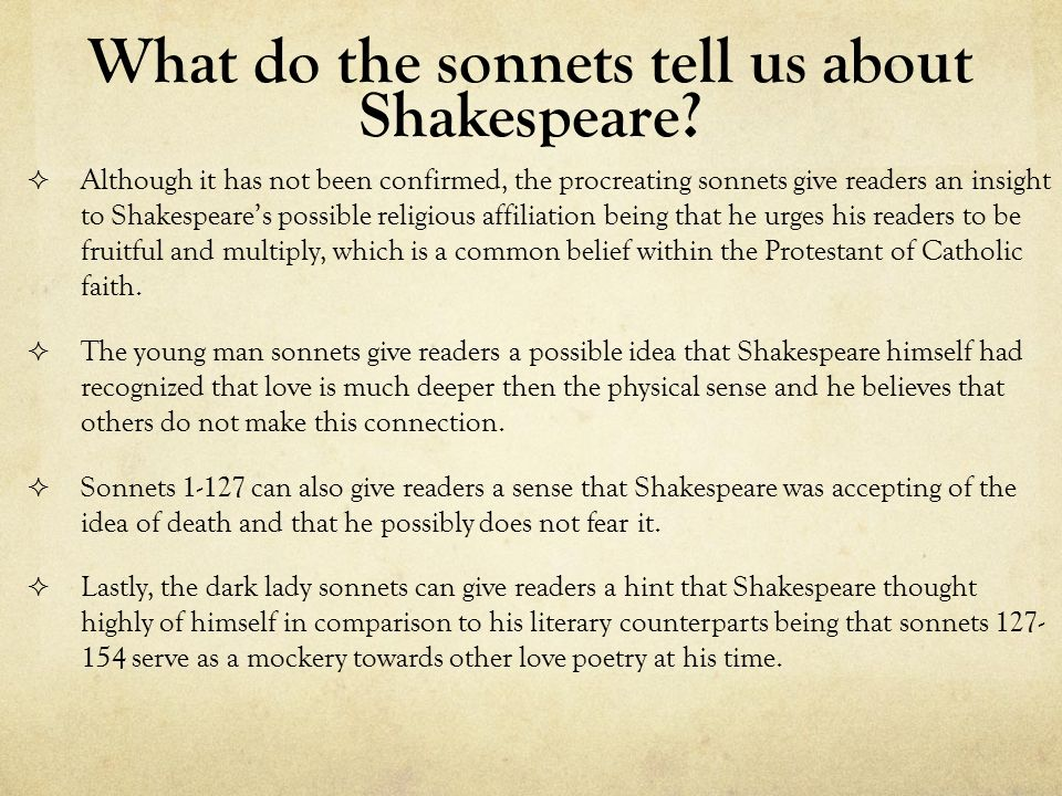 shakespeares sonnet was a psychological insight of himself Eliot avails himself of the opportunity to  on shakespeare's psychological similarity  the mature vision evident in shakespeare's sonnet.