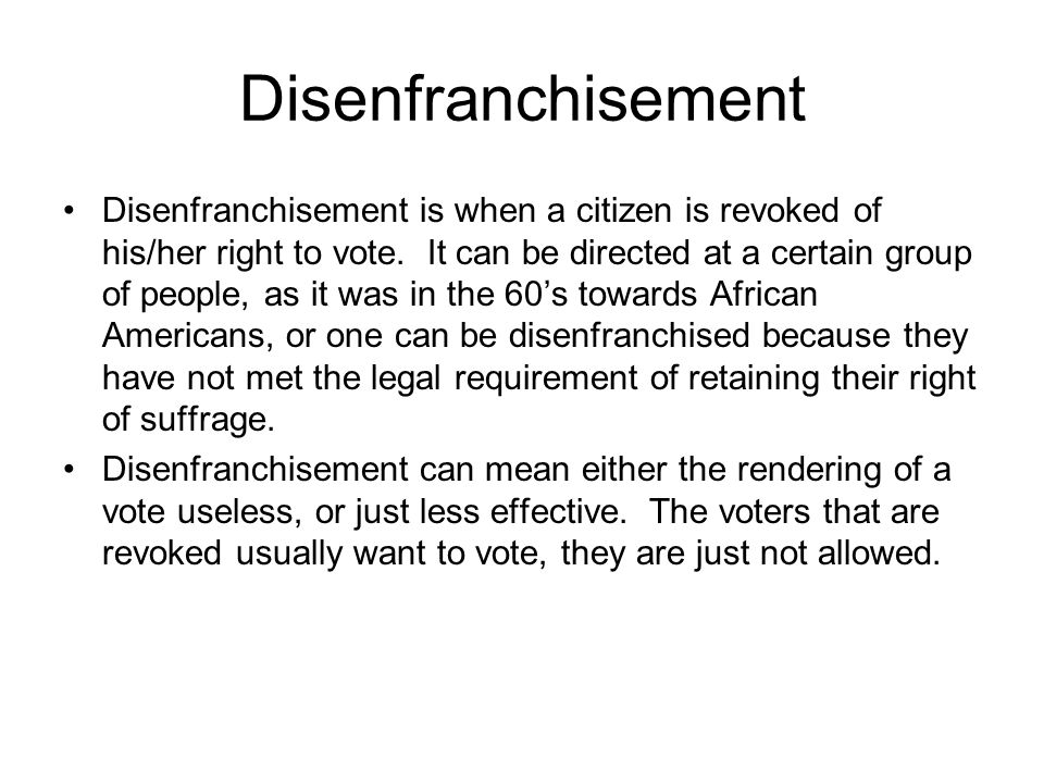 The state of felony disenfranchisement in America