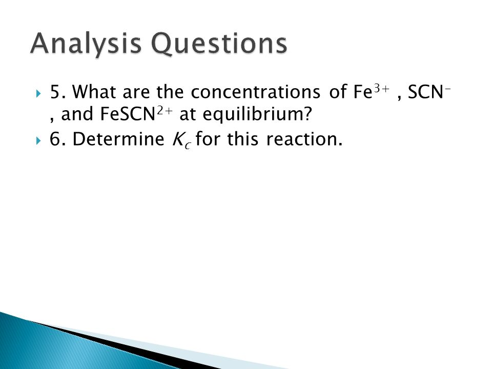 analytical and equilibrium molarity Analytical and equilibrium concentrations • they are not the same • analytical molarity, cx= sum of all species of the substance in solution • equilibrium molarity, [x] = concentration of a given dissolved form of the substance.