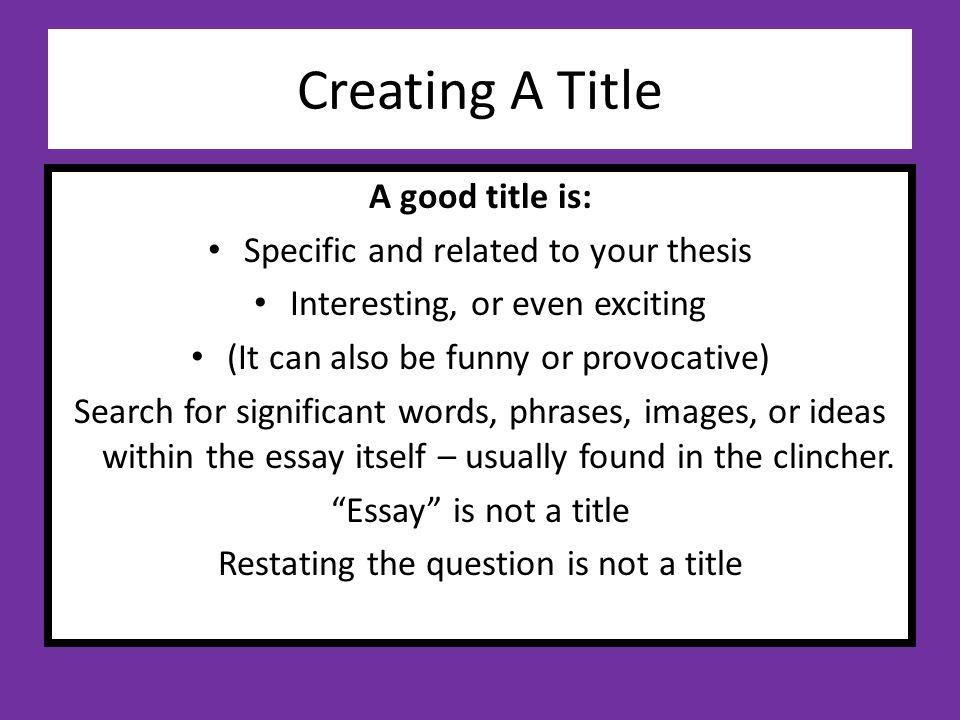 Provocative essay prompts