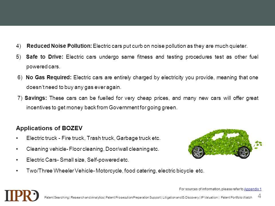 Exemplary Landscape Report Battery Operated Zero Emission Vehicle