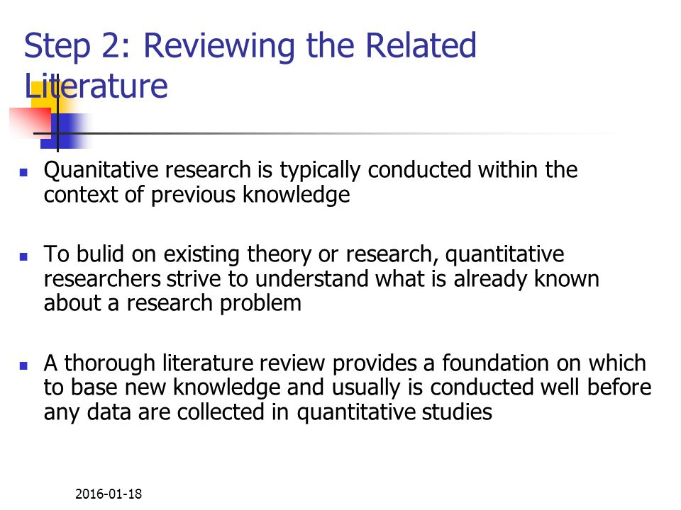 what is the purpose of a literature review in quantitative research 4 days ago  your literature review should be guided by a central research question  make  sure your research question is not too broad or too narrow.