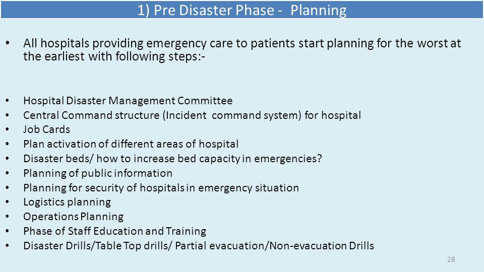 Disaster Preparedness In Hospitals Ppt Video Online Download