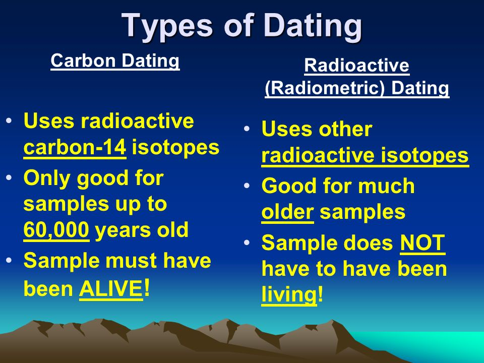 How many different types of radiometric dating are there