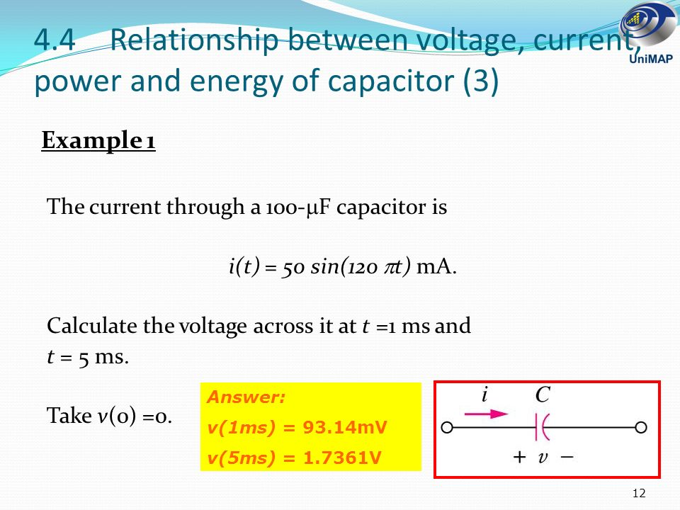 relationship between energy voltage current and time