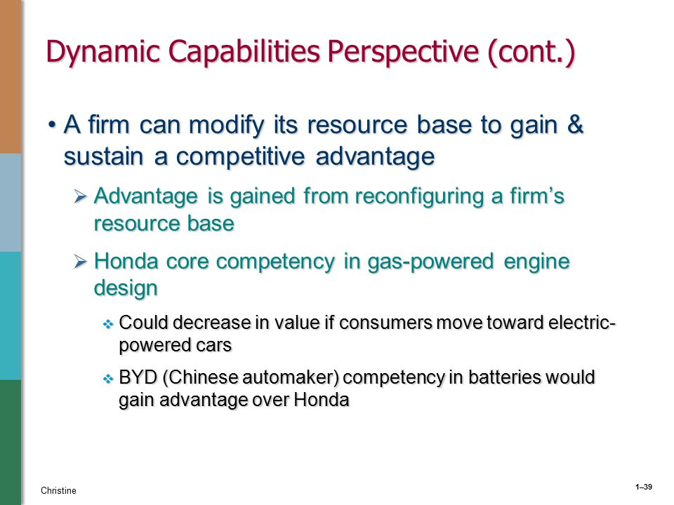 a dynamic capabilities perspective A dynamic capabilities perspective on the strategic management  dynamic capability is defined as the firm's ability to integrate, build and reconfigure internal and external competencies  reviews on the dynamic capabilities perspective provide five research streams that include the nature of dynamic capabilities (eisenhardt & martin.