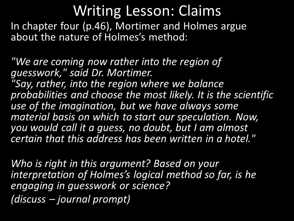 Writing Lesson: Claims