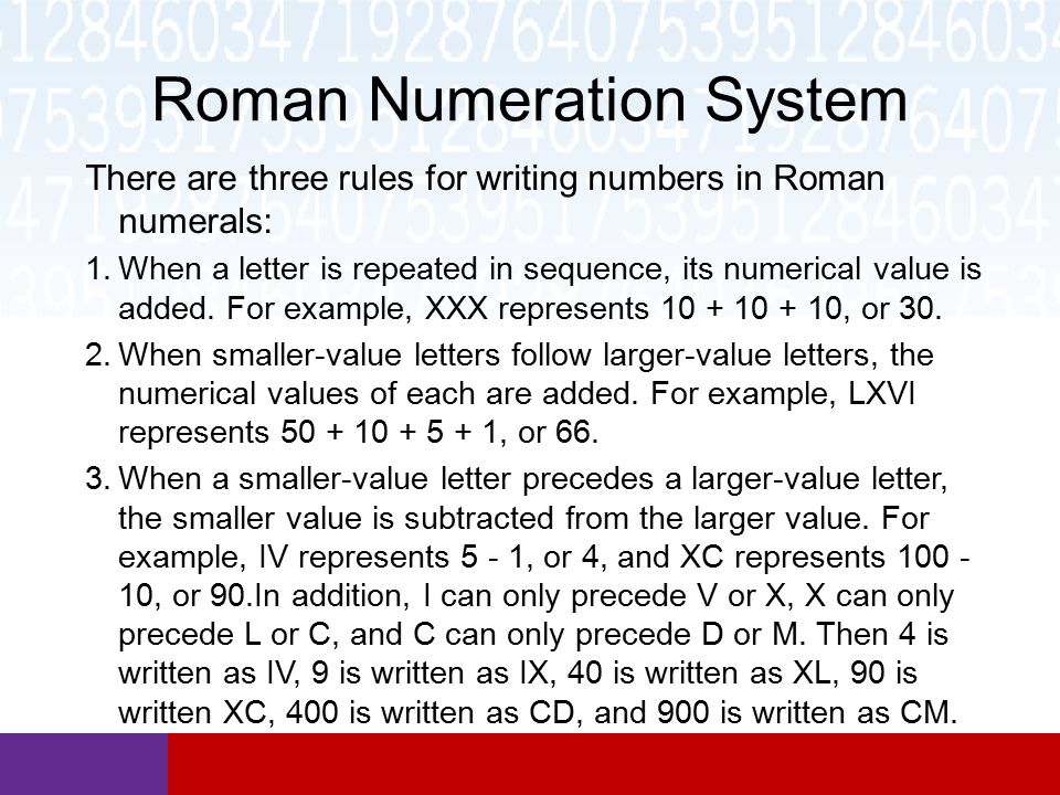 how to write 900 in roman numerals