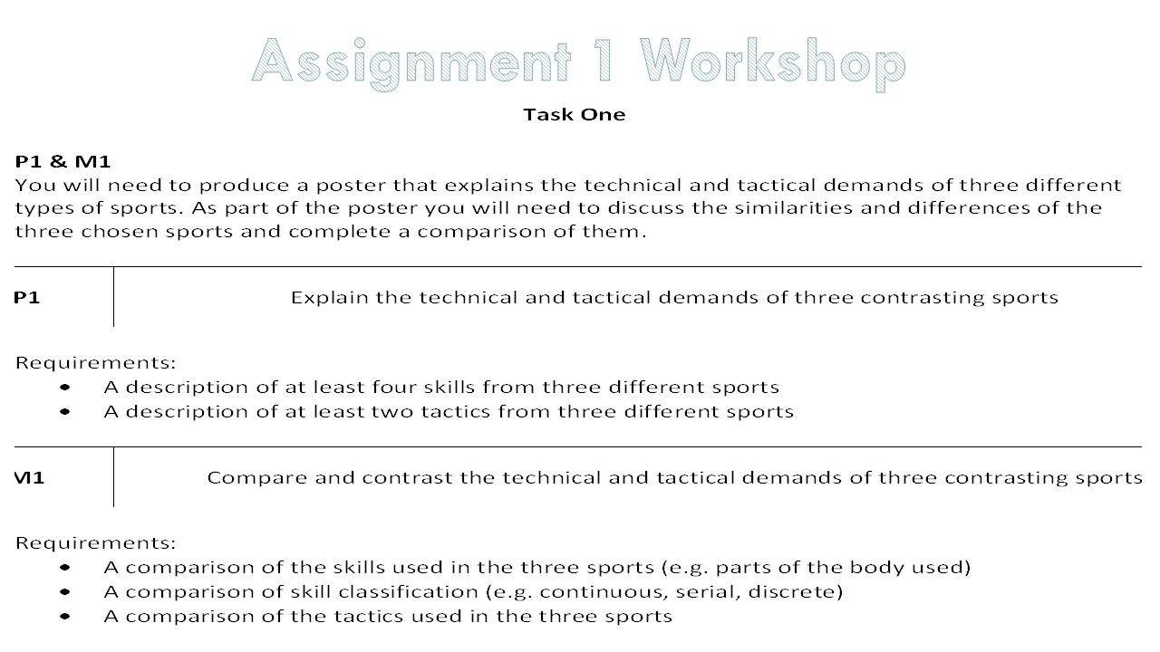 53 assignment 1 workshop - Different Types Of Technical Skills