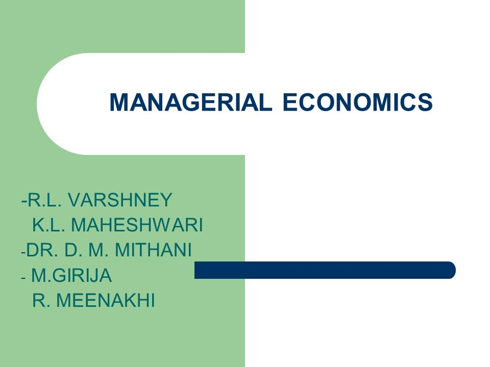 Managerial Economics By Mithani Pdf