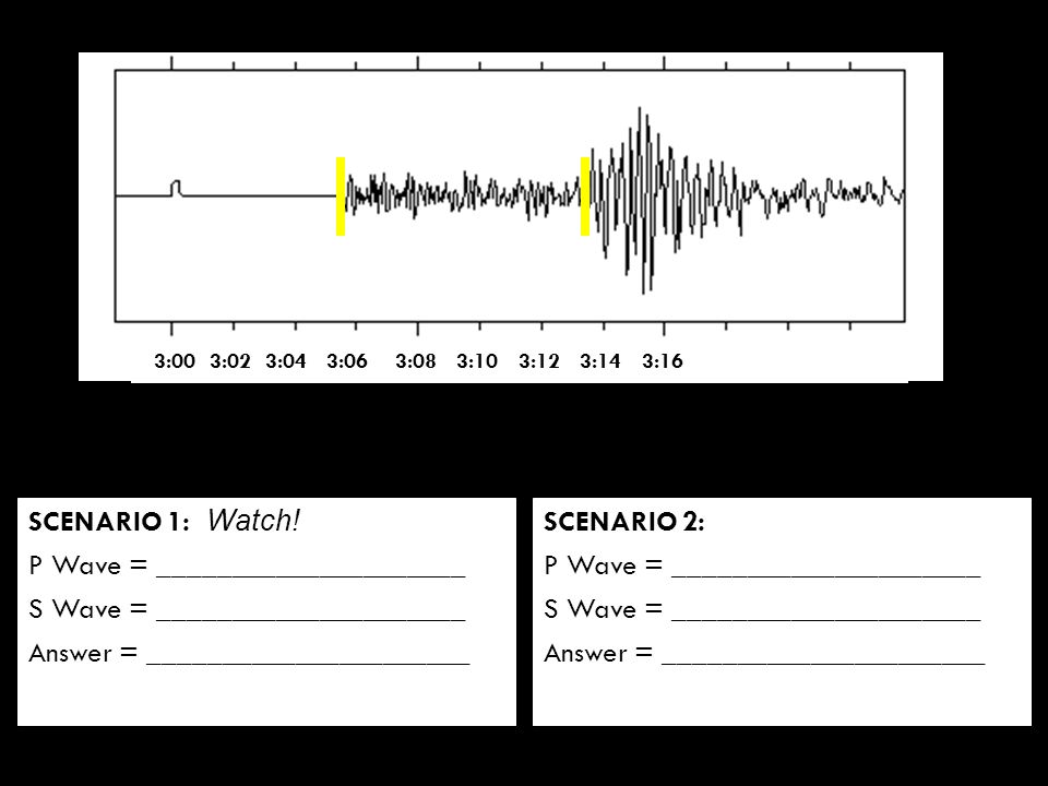 Warm Up What instrument do scientists use to measure an – Earthquake P-wave and S-wave Travel Time Worksheet