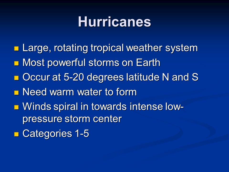 SEVERE WEATHER PROJECT - ppt download