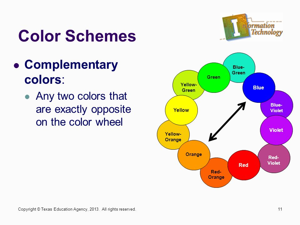 11 Color Schemes Complementary