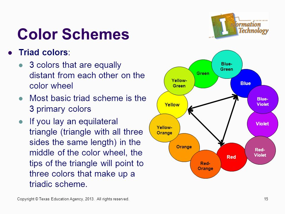 15 Color Schemes Triad