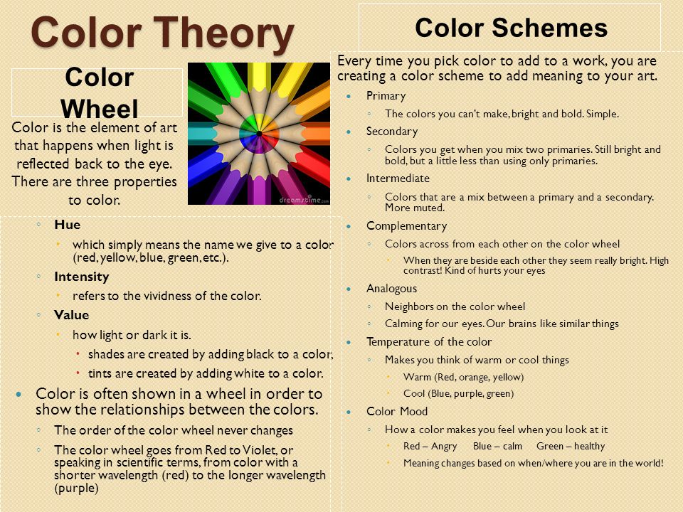 Creative Color Wheel What Is Your Favorite Color Why Do