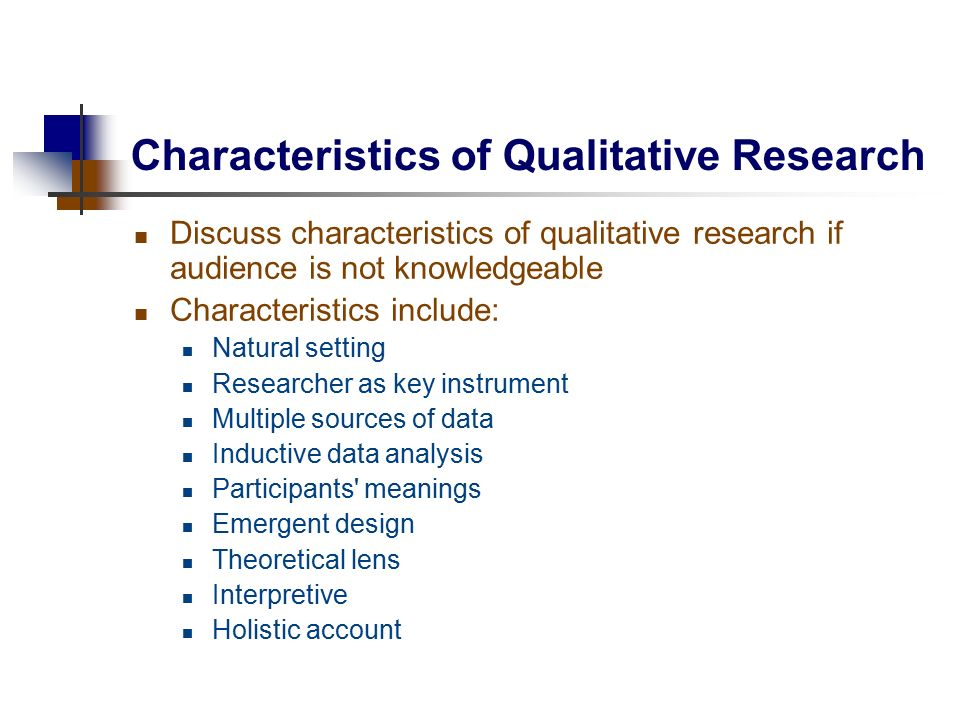 Main features of qualitative research Essay Sample