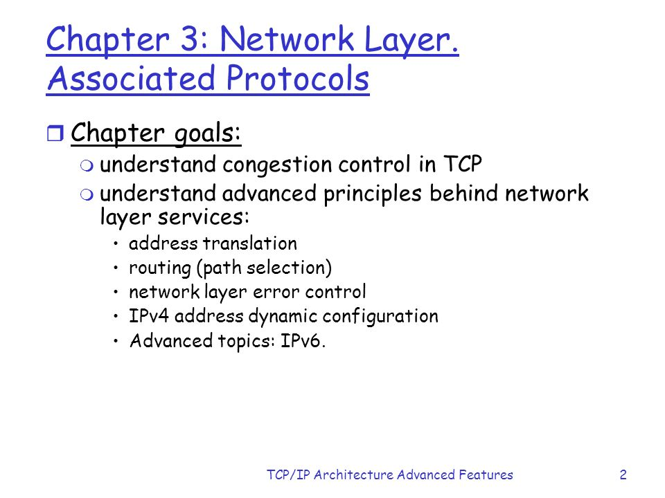 Chapter 3 Tcp Ip Architecture Advance Features Ppt Download