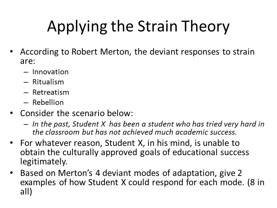 The Strain Theory Term Paper Help
