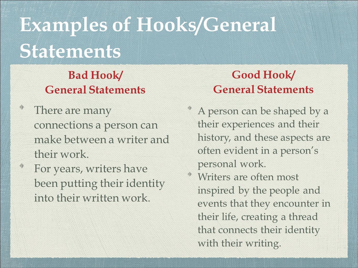 what is a hook in a paragraph