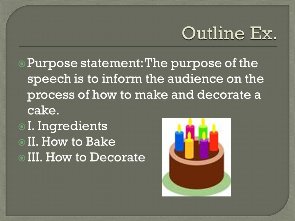 to inform the audience how to General purpose: to inform the audience about the cause, affect and ways to manage stress specific purpose statement: the audience will learn what causes stress and how stress can affect their health, and how they can manage their everyday stress with different techniques attention getter: life is.