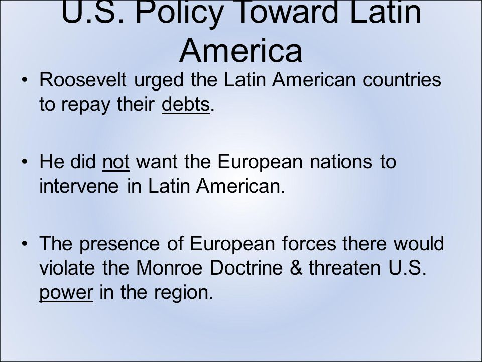 the u s and latin america a The big picture: the monroe doctrine is running up against the xi reality in latin  america as china has now surpassed the us as the leading.