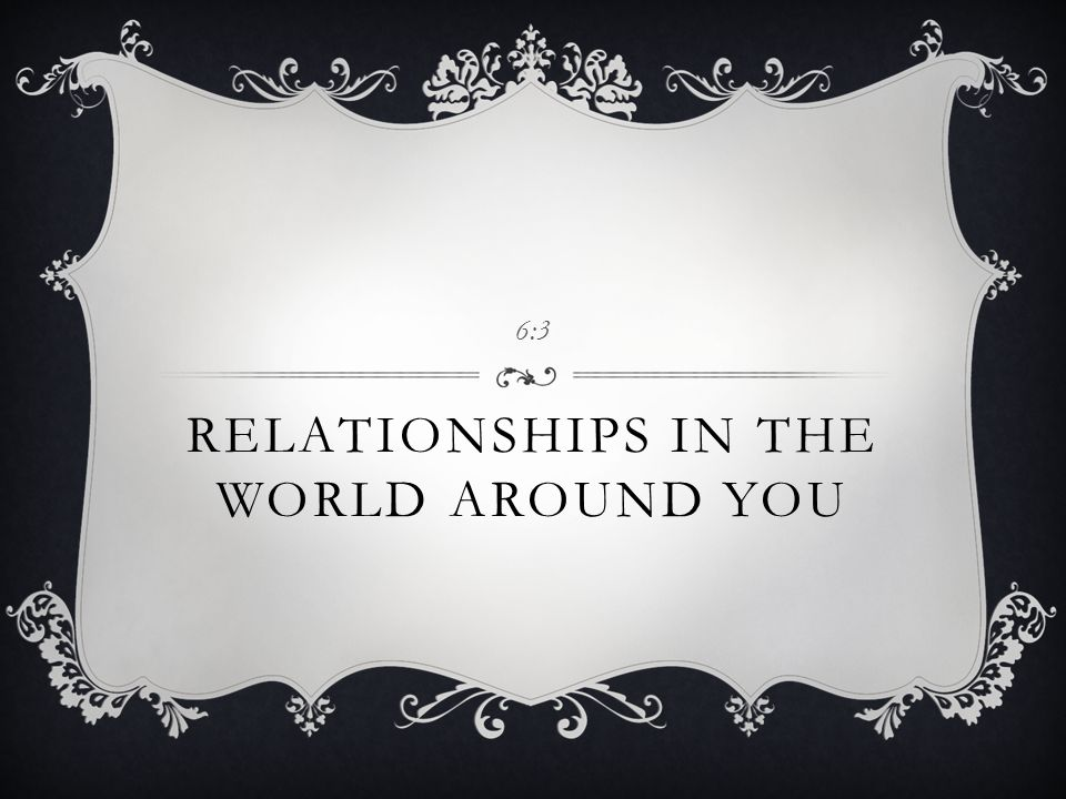 Relationships in the World Around You