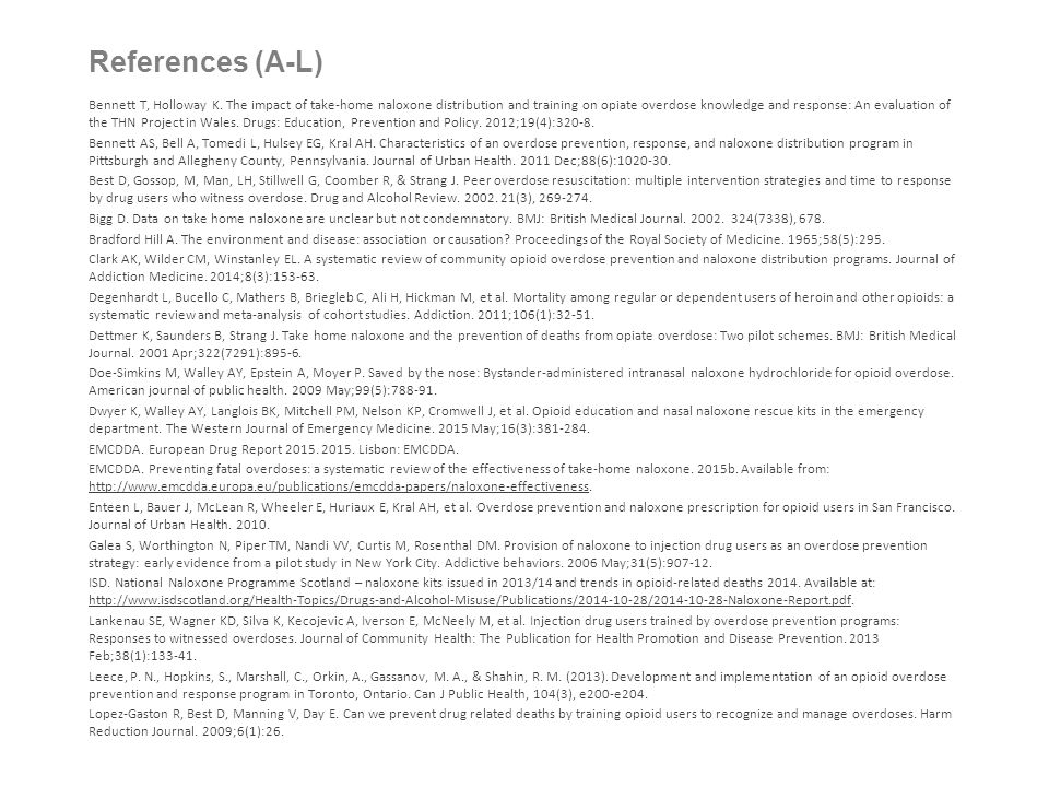 References (A-L)