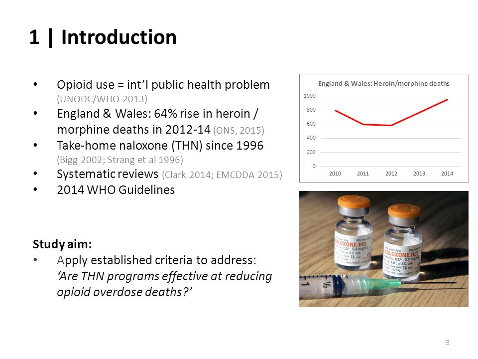 1 | Introduction Opioid use = int'l public health problem (UNODC/WHO 2013)