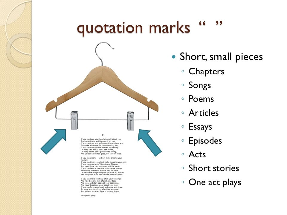 punctuating titles ppt  3 quotation