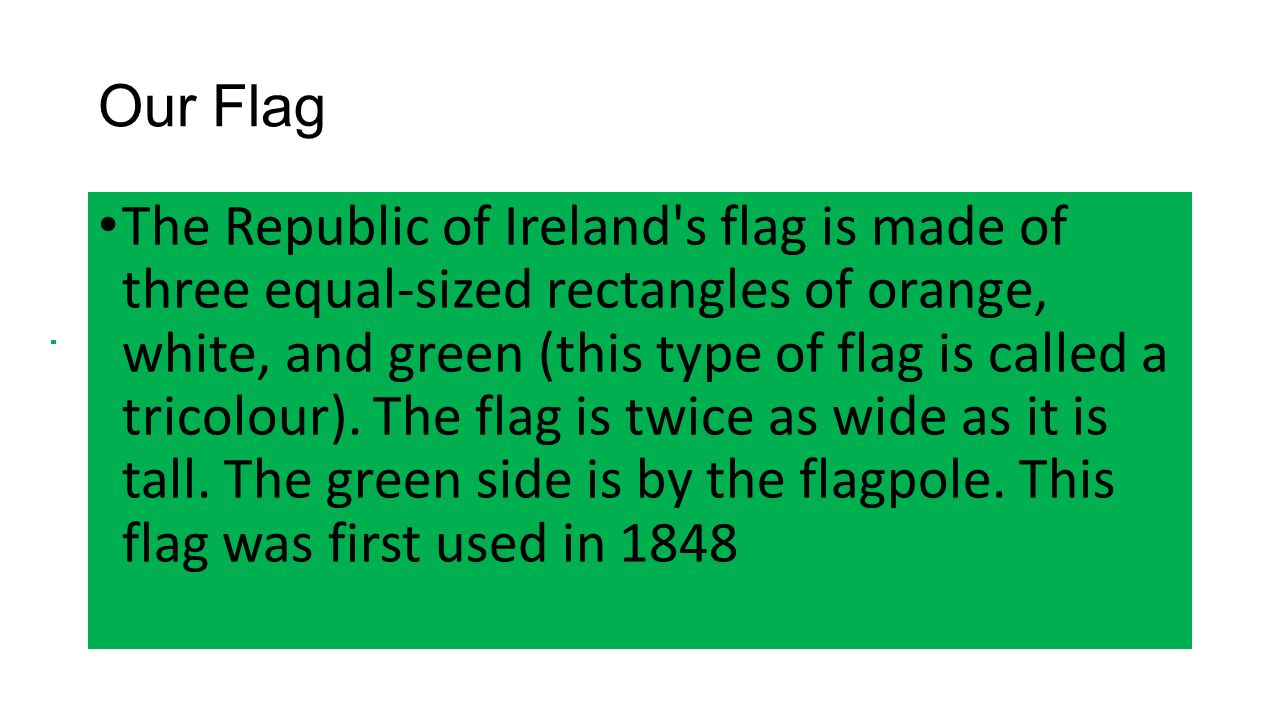 the irish tricolour by valerie king ppt download