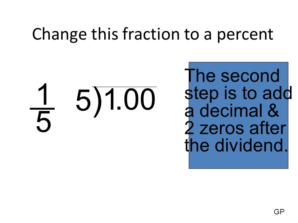 how to change a percent to a decimal