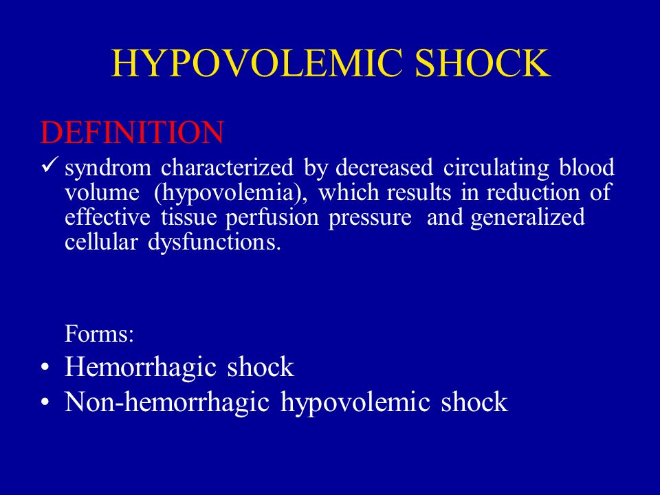 hypovolemic shock This lesson will go over the pathophysiology of hypovolemic and septic shock however, we will also cover what distributive, obstructive .