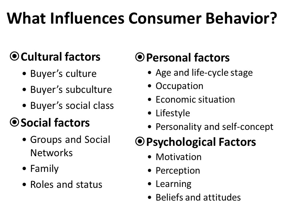 how personal and cultural factors impact Social factors affecting business include buying habits, education level, and religion two examples of the impact these factors have the cultural changes.