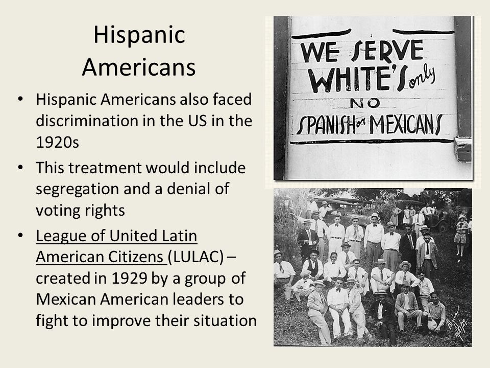 hispanic discrimination in the us A penn state research study discovered that us-born, young male latinos  reported encountering the most discrimination in both interpersonal.