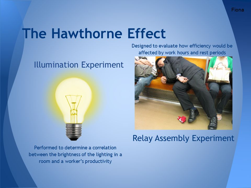 The hawthorne effect study