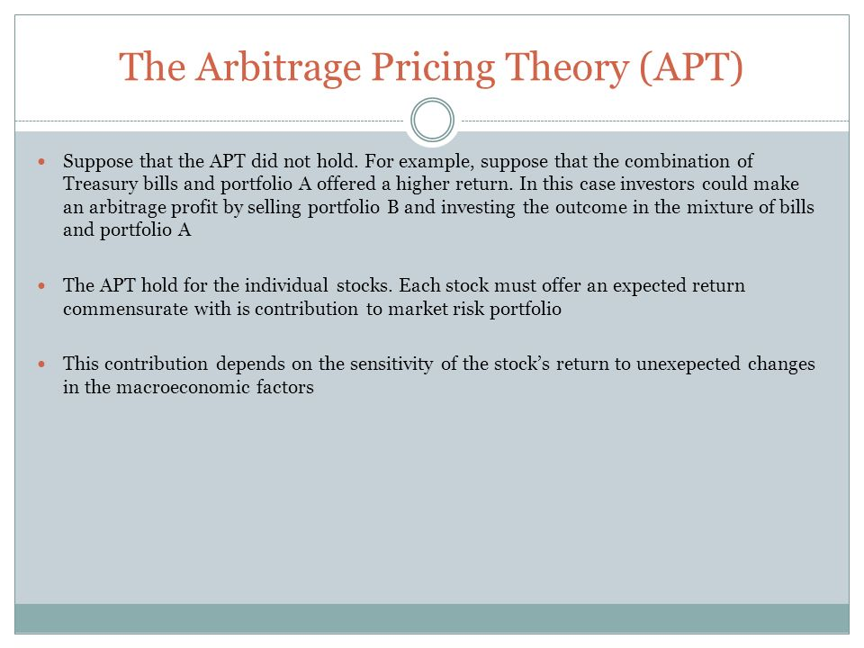 Arbitrage Pricing Theory (With Diagram)