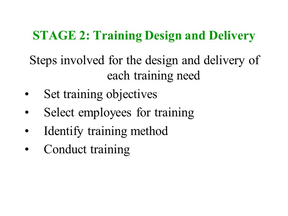 design and conduct a specific training To meet a variety of specific training needs, other models build on the  first  address that competency prior to conducting ehr-specific training.