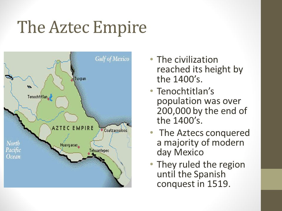 the defeat of the aztec empire Together with a small army of 600 men, cortes sought out to conquer the aztec  empire for their country the aztec empire was considered as.