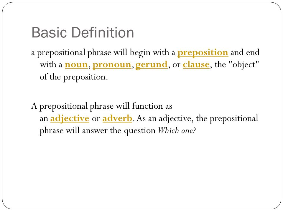 Prepositional Phrases Essay Research Paper Help