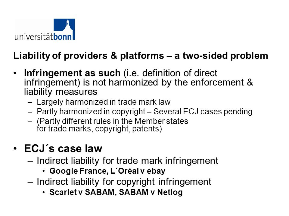 Liability of providers & platforms – a two-sided problem