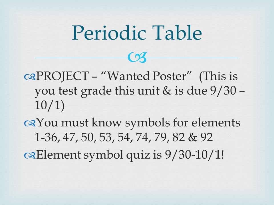 2 periodic table - Periodic Table Quiz 1 36