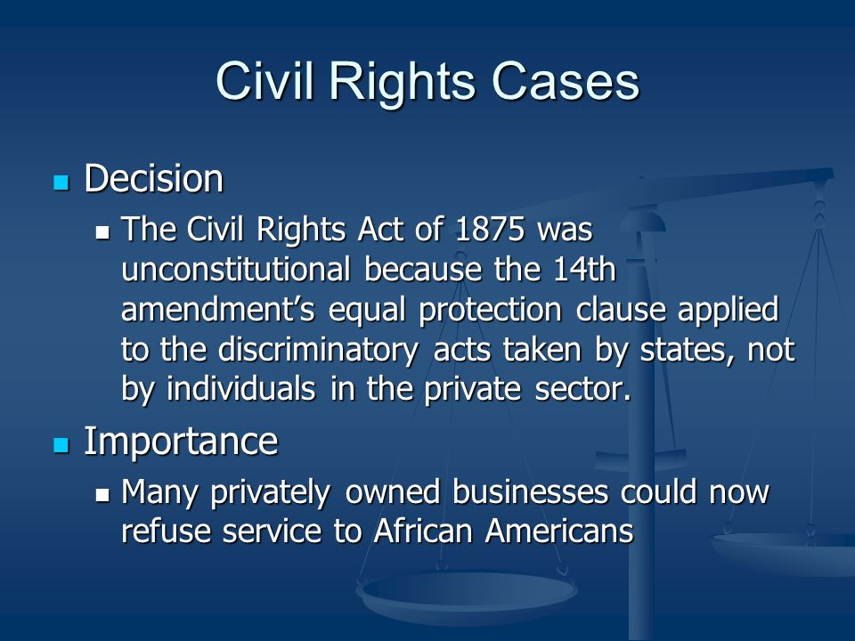 importance of civil rights Civil rights ensure every human being receives equal treatment in a number of settings, including housing, employment, education and elsewhere civil rights are based.